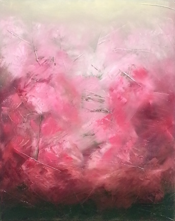 Azaleas in Spring | oil on canvas | 24